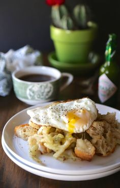 Ciabatta Fennel Hash With Sunny-Side Up Egg