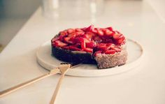This week I'm celebrating a birthday. My last one in my 30's - a little scary, but a good excuse to round the girls up and have a few champagnes to celebrate!  I'm trialing recipes for my birthday cake, and thought I'd share this raw, vegan strawberry cheesecake recipe with you!  For the crust: ½ cup chopped Medjool Dates ½ cup walnuts or almonds pinch of sea salt  For the filling: 1 ½ cup raw cashews soaked overnight (you will want them to get soft enough to blend into a creamy filling) 2…