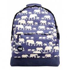 Deze Mi-Pac Rugzak Elephants Blue vind je op www.liefzebraatje.nl
