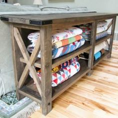 http://www.ana-white.com/2012/05/plans/rustic-x-console