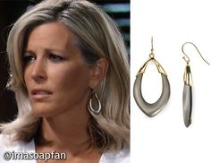I'm a Soap Fan: Carly Corinthos's Lucite Orbit Link Earrings - General Hospital, Season 54, Episode 08/25/16, Laura Wright, Clothes worn on #GH, #GeneralHospital Fashion