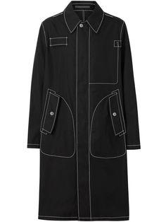 Burberry Topstitch Detail Cotton Gabardine Car Coat In Black Denim Mantel, Mode Mantel, Denim Coat, Fashion Outfits, Men's Fashion, Sportswear, Street Wear, Women Wear, Men Casual