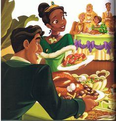 Tiana, Naveen and foods! Tiana Disney, Disney Princess Art, Disney Fan Art, Cute Disney, Princess Merida, Disney Artwork, Tiana And Naveen, Prince Naveen, Disney Couples