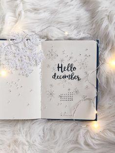 16 Stunning December Inspired Bullet Journal Spreads - Di Home Design Hello December Tumblr, December Images, Hello November, It's December, Bullet Journal Online, December Bullet Journal, Bullet Journal Spread, Bullet Journals, December Wishes