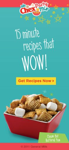 Chex Mix Recipes...who knew there were so many!