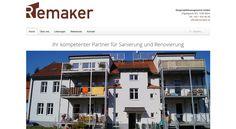 Webdesign für die ReMaker Bauprojektmanagement GmbH.