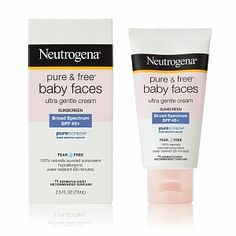 I'm learning all about Neutrogena Pure and Free Baby Faces SPF 50  at @Influenster!