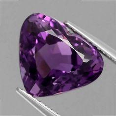 Schönes 12 x 10 mm Uruguay Amethyst Herz Amethyst Gemstone, Purple Amethyst, Natural Gemstones, Heart Ring, Rings, Jewelry, Uruguay, Silver Decorations, Rhinestones