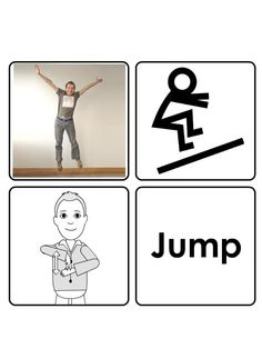 Jump Sign Language Basics, Sign Language For Kids, Sign Language Phrases, British Sign Language, Makaton Signs, Bsl, Bingo Games, Word Out, Spoken Word