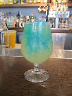 Blue Kamikaze recipe - 1 oz vodka, 1 oz Blue Curacao liqueur, 1 oz lime juice, fill with ice cubes. Directions: Combine the Vodka, Blue Curacao, and Lime Juice in a glass with ice. Shake well, then pour through a strainer into a normal glass with ice in it. Makes 1 drink.