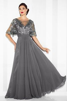 83663fa24f9 A-Line Princess Bateau Neck Floor-length Mother of the Bride Dress With  Sequined Appliques Lace