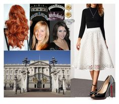 """""""visiting Royal treasury with the Queen and Sarah Burton and picked up a tiara for her wedding day"""" by princessofpeople ❤ liked on Polyvore featuring Burton, Trianon and Christian Louboutin"""