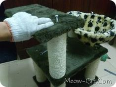 How to make a sturdy cat tree.