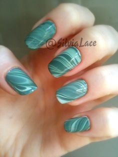 #nails water marble  This is cool :)