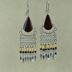 The Festival Friend Ethnic Earrings Tiger Eye by EarringBazooka