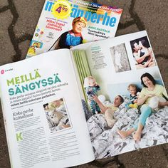 Äiti yrittää: Meidän perhe oli Meidän Perhe lehden perhepeti jutussa, Finnlayson, Polarn O. Pyret, Muumit