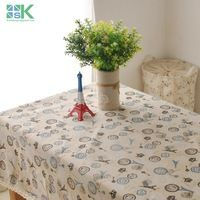 2016 Summer new Japanese-style wind towers Crown design new table cloth pattern coffee table drape , freee shipping