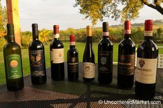 Collection of Tuscan Wine - Montepulciano, Italy