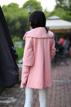 Euramerican cabo lana abrigos moda abrigo largo por Dressbeautiful