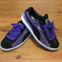 de68b024cde Original Puma Suede Clydes For the HipHop Head in you! Puma Clyde black and  purple