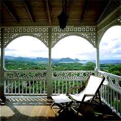 I love verandas, especially with a view like this!