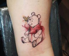 Wonderful Winnie The Pooh Tattoos for National Winnie the Pooh Day - Banana Cupcake Ideen Bild Tattoos, Cute Tattoos, Unique Tattoos, Body Art Tattoos, Small Tattoos, Tattoos For Guys, Disney Tattoos Unique, Feminine Tattoos, Pretty Tattoos