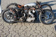 Old Harley racers #harleydavidsoncaferacer
