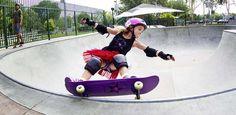 Girls skateboarding where few girls have gone before