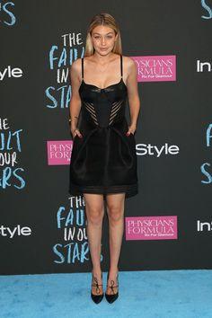 """Pin for Later: Les comédiens de """"The Fault in Our Stars"""" se sont tous retrouvés à l'avant-première du film à NY !  Le mannequin Gigi Hadid"""