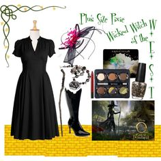 Plus Size Pixie ~ Wicked Witch of the West, created by plussizepixie on Polyvore