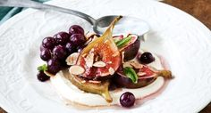 awesome Honey baked figs with hazelnut ice cream - Free Restaurant Recipes