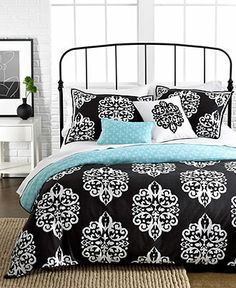 Sunset and Vines Dalton 5 Piece Comforter and Duvet Cover Sets - Bed in a Bag - Bed & Bath - Macy's from Macys. Saved to my new room! Twin Comforter Sets, King Duvet Cover Sets, Teen Bedding, Bedding Sets, Duvet Covers, Blue Bedding, King Comforter, Orange Bedding, Modern Bedding