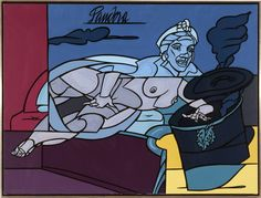Valerio Adami, 'Pandora', 1999