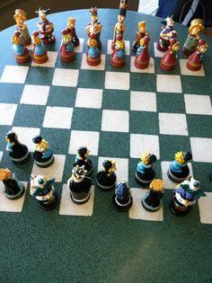 The Simpsons chess set!