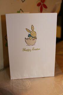 Stampin' Sarah! Paper pieced Stampin' Up! Everybunny Easter card