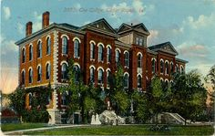 Old Main, Coe College Postcard Coe College, Cedar Rapids Iowa, Corridor, Colleges, Vintage Postcards, Ancestry, Past, Maine, Mansions