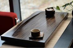 Big ebony wood tea tray displaying and serveing by Chinateaware, $185.00