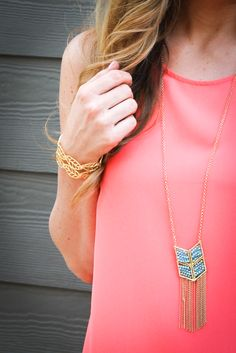 Turquoise and Fringe Necklace — The Impeccable Pig Boutique