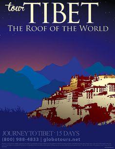 travel poster for tibet, via Flickr.