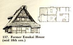 Traditional japanese folk farm house, called Minka (Emukai house)
