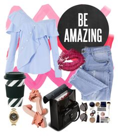 """""""Be Amazing"""" by sona-rustamova ❤ liked on Polyvore featuring Illesteva, Dr. Martens, FAIR+true, Essie, Miss Étoile, Loeffler Randall, Michael Kors, Summer, casual and outfit"""