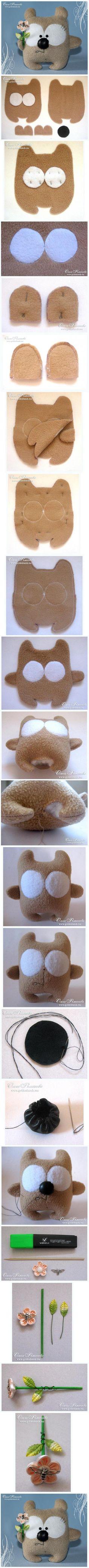 DIY Cute Little Fabric Bear