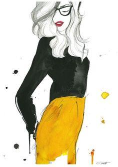 9d0bbaa6f4b9 Silhouette Illustration Mode, Dessin De Mode, Stylisme, Art Graphique, Arts  Visuels,