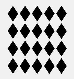 "Diamond stencil diamonds harlequin stencils template templates background craft paint scrapbook new 8""x10"""