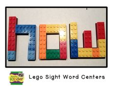 Snap Cube and Lego Centers! Make cards with letters for prompt.