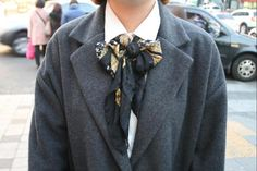 Scarves as neckties  -YAY! people pinned my street style photos!