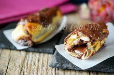 Cannoli di sfoglia nutella mascarpone, cioccolato, ricetta facile, veloce, dolci sfiziosi, ricetta da merenda o dopo cena, dolci con pasta sfoglia, congelabili