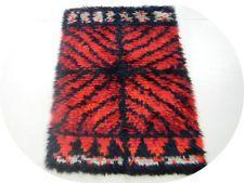 70s midcentury ege danish rya modern eames era rug shag carpet