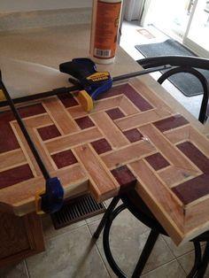 Celtic knot cutting board (idea from degoose's board) - Wood Parquet
