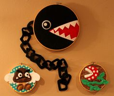 From the Craftster Community: Mario Villain Hoops! - NEEDLEWORK - I WANT ALL OF THESE. <3